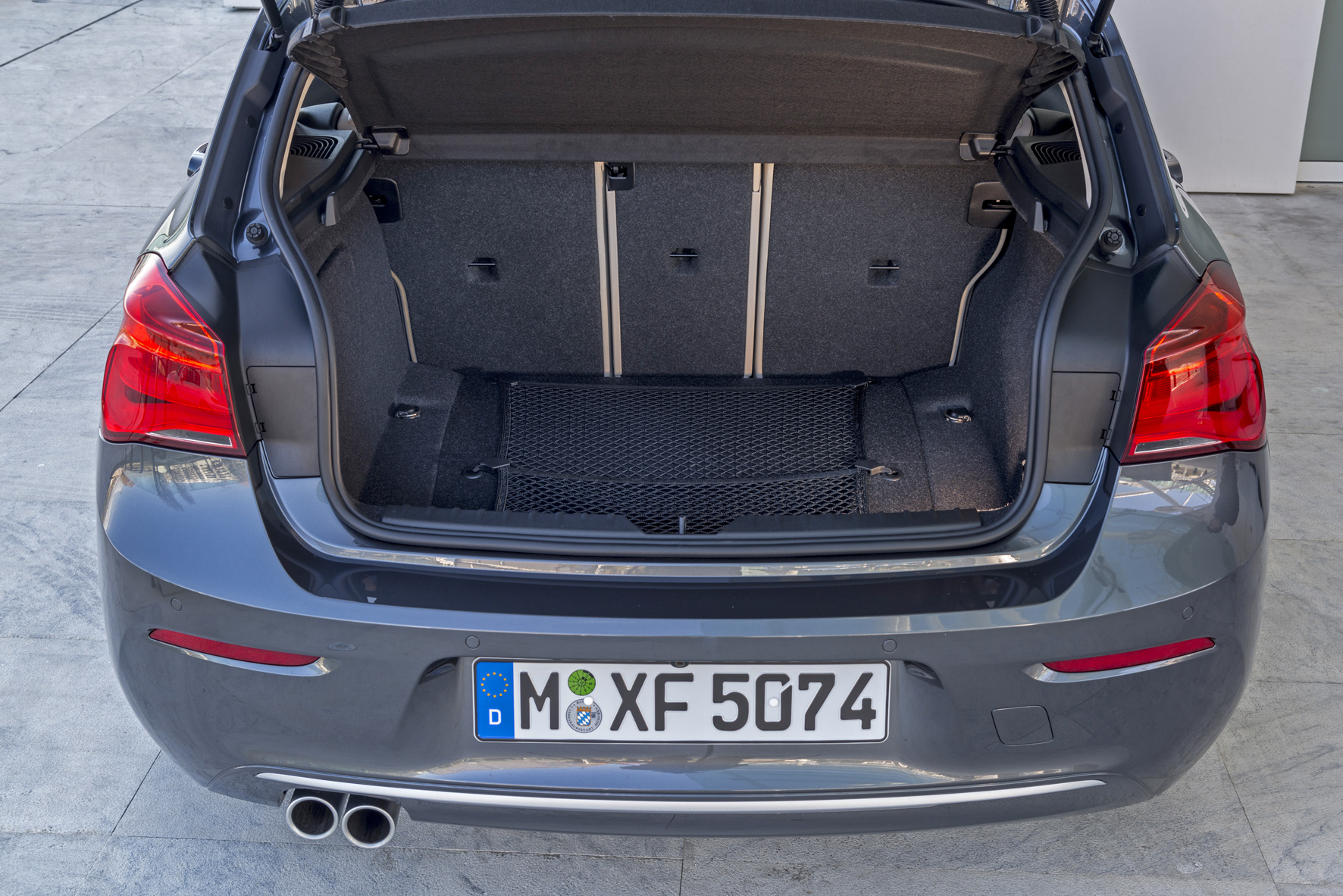 Open boot of a BMW 1 Series