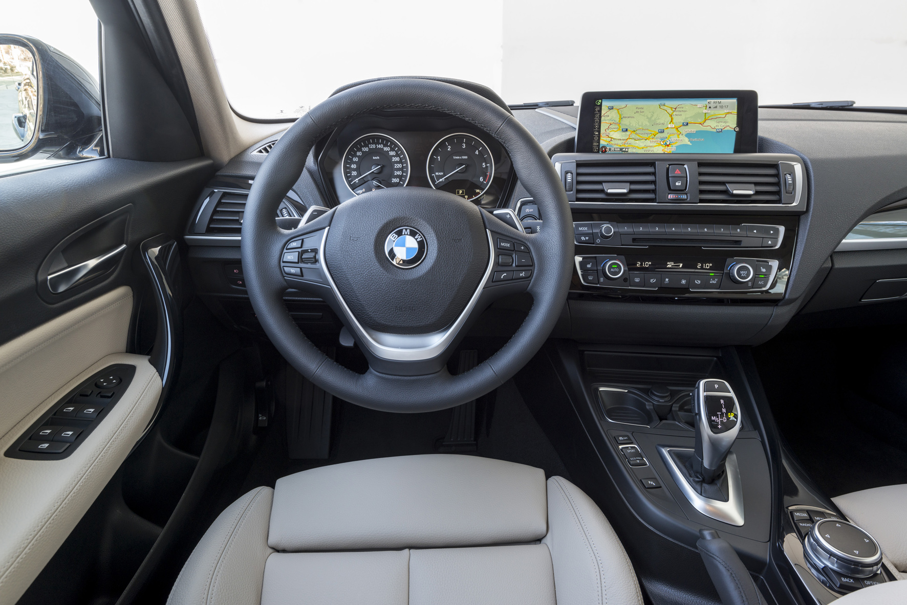 The drivers seat view in a BMW 1 Series