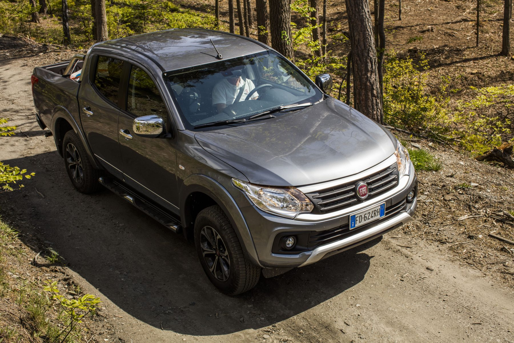 Fiat fullback driving on a road