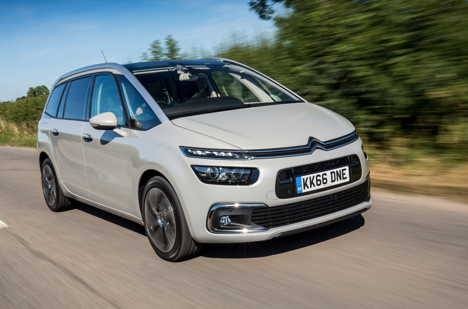 Citroen C4 Grand Picasso driving on the road