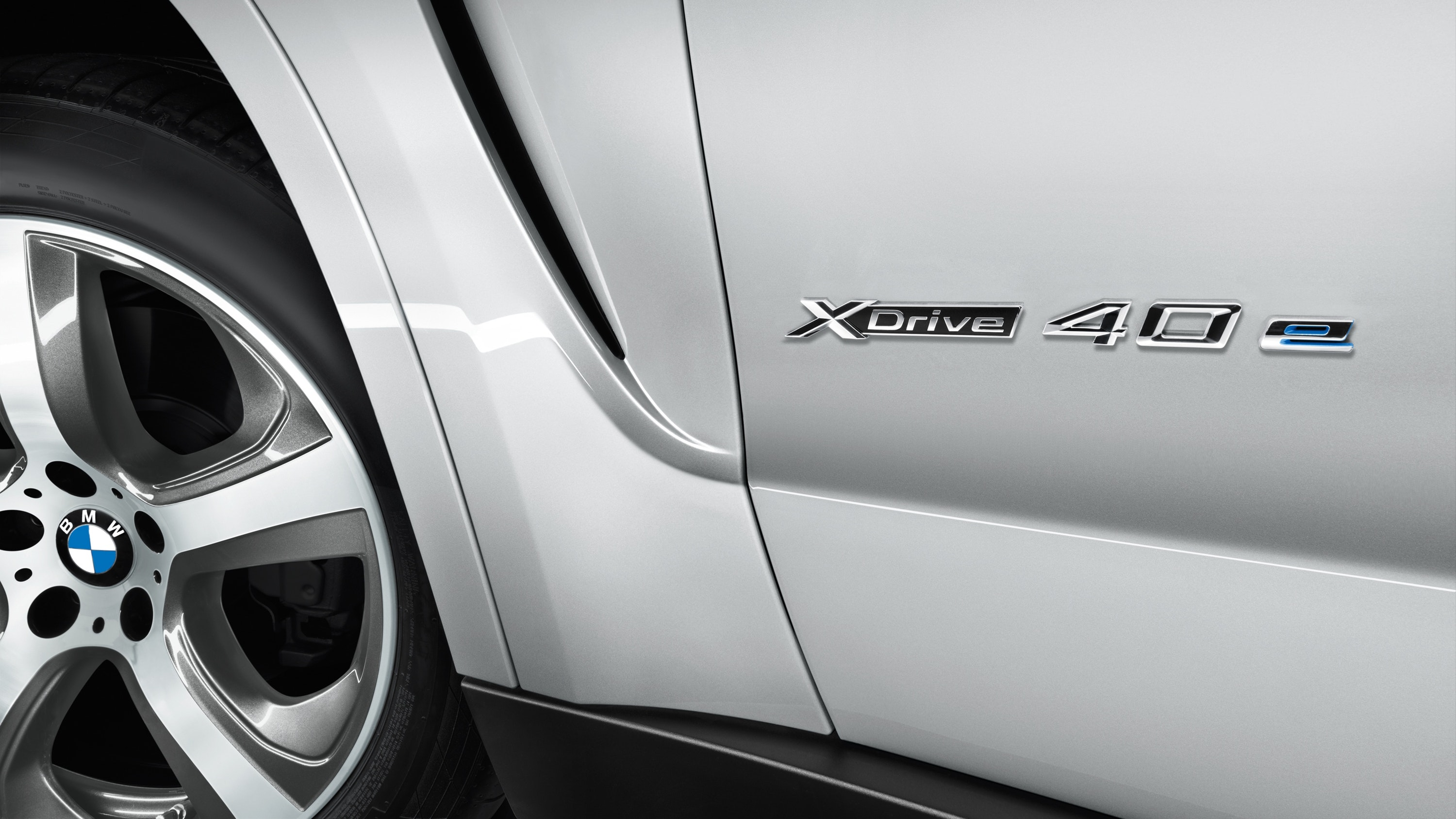Close up of Xdrive badge
