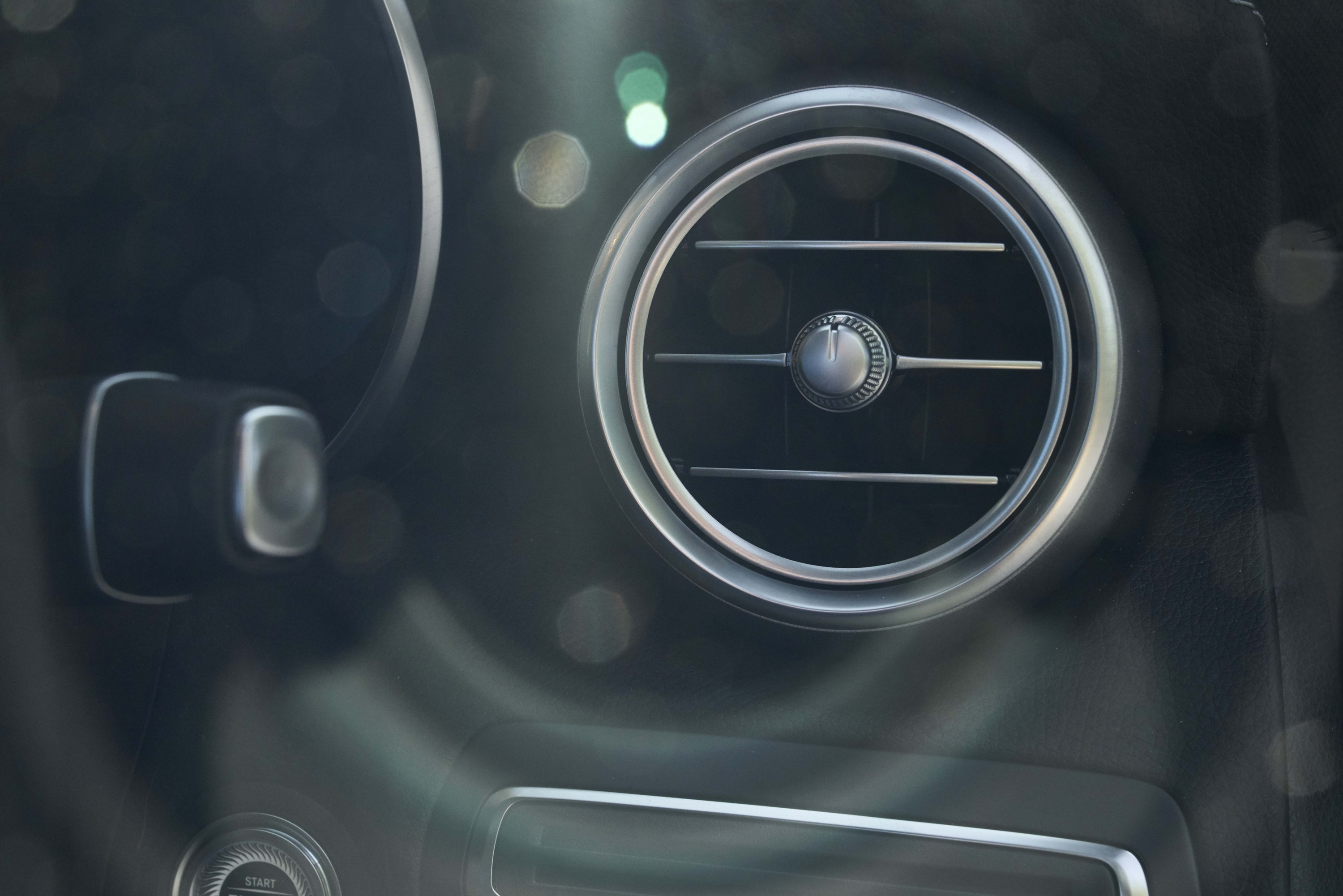 Close up of Air vents inside the Mercedes-Benz C-Class