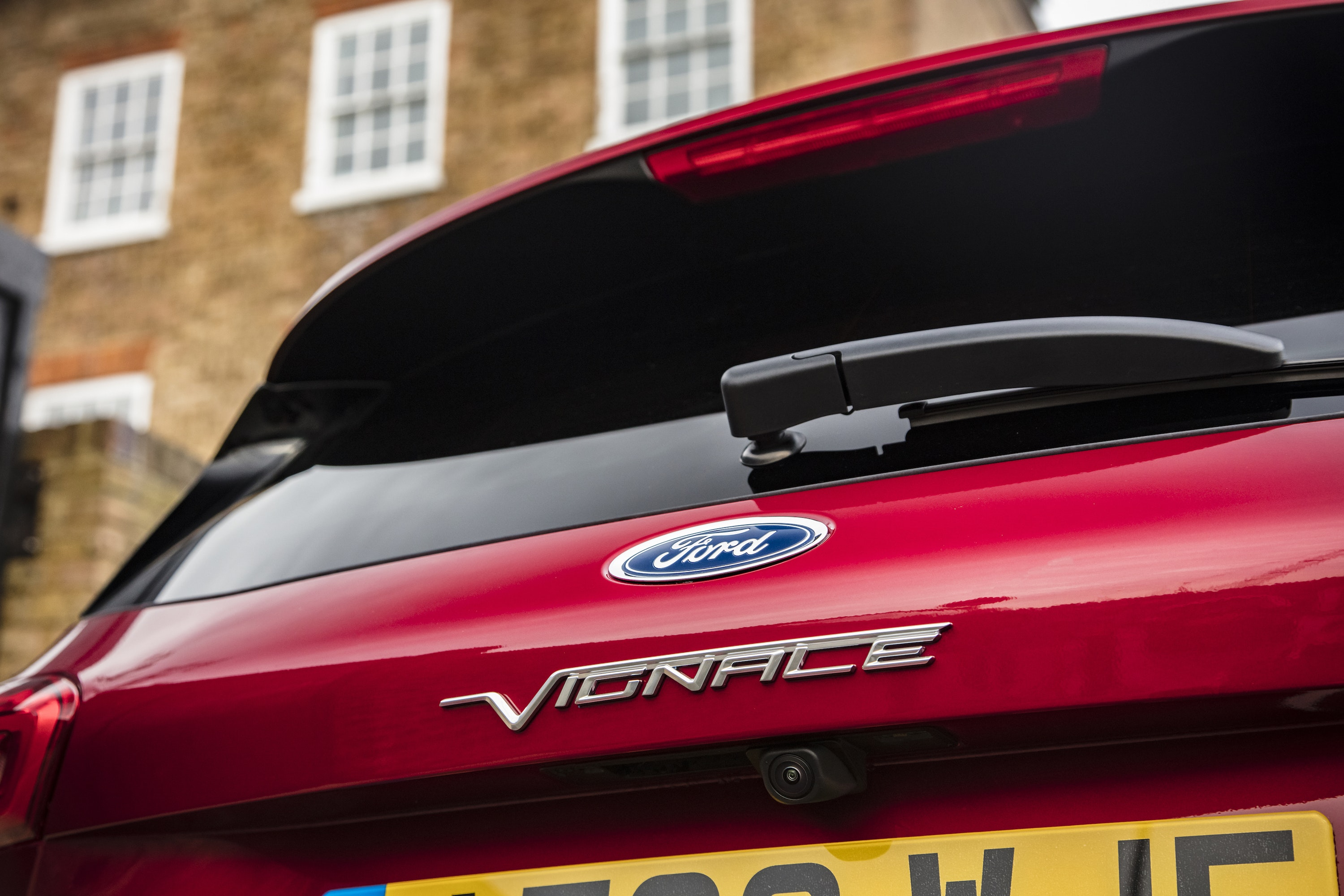 Close up of rear of Ford Focus Vignale
