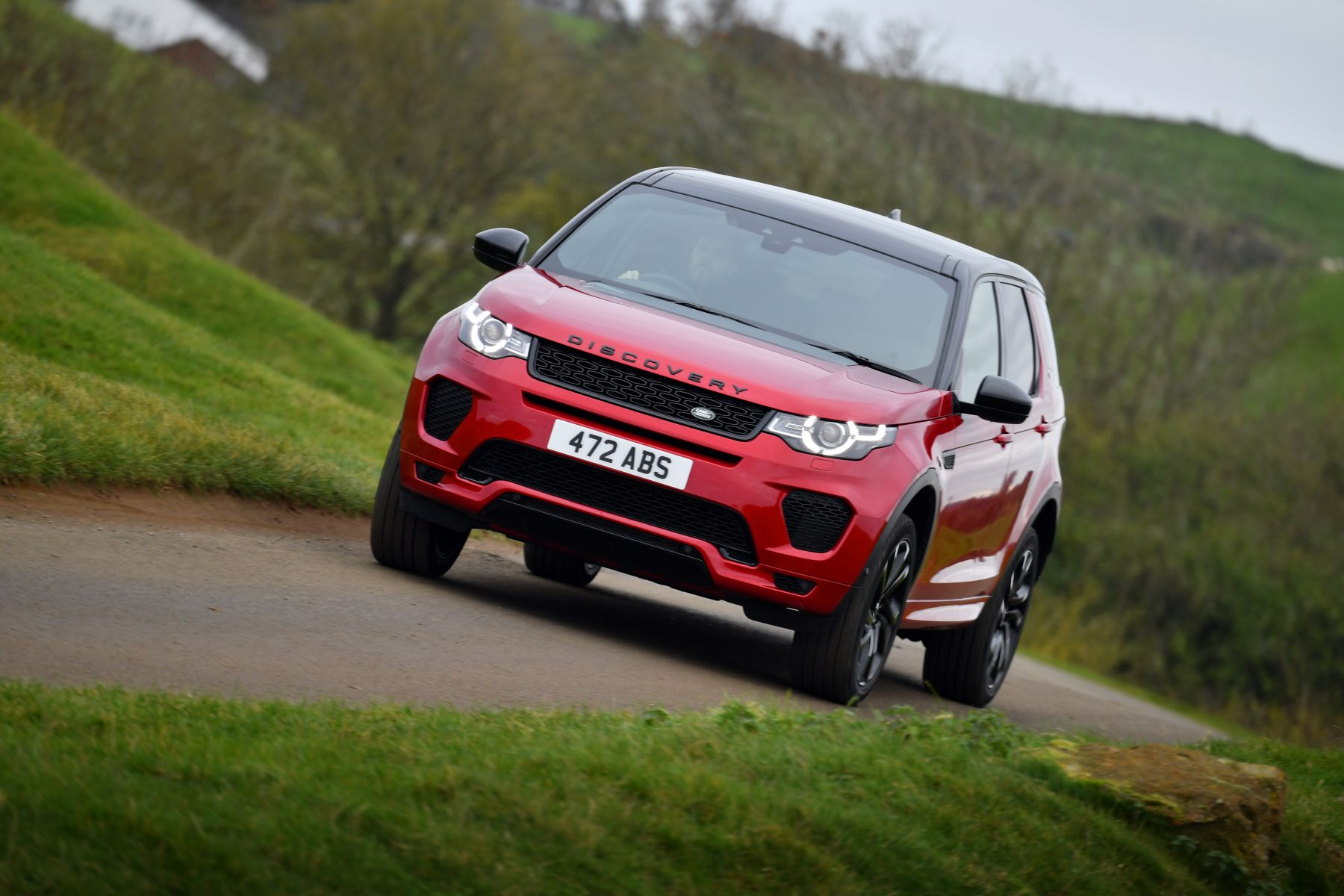 Red Land Rover Discovery Sport