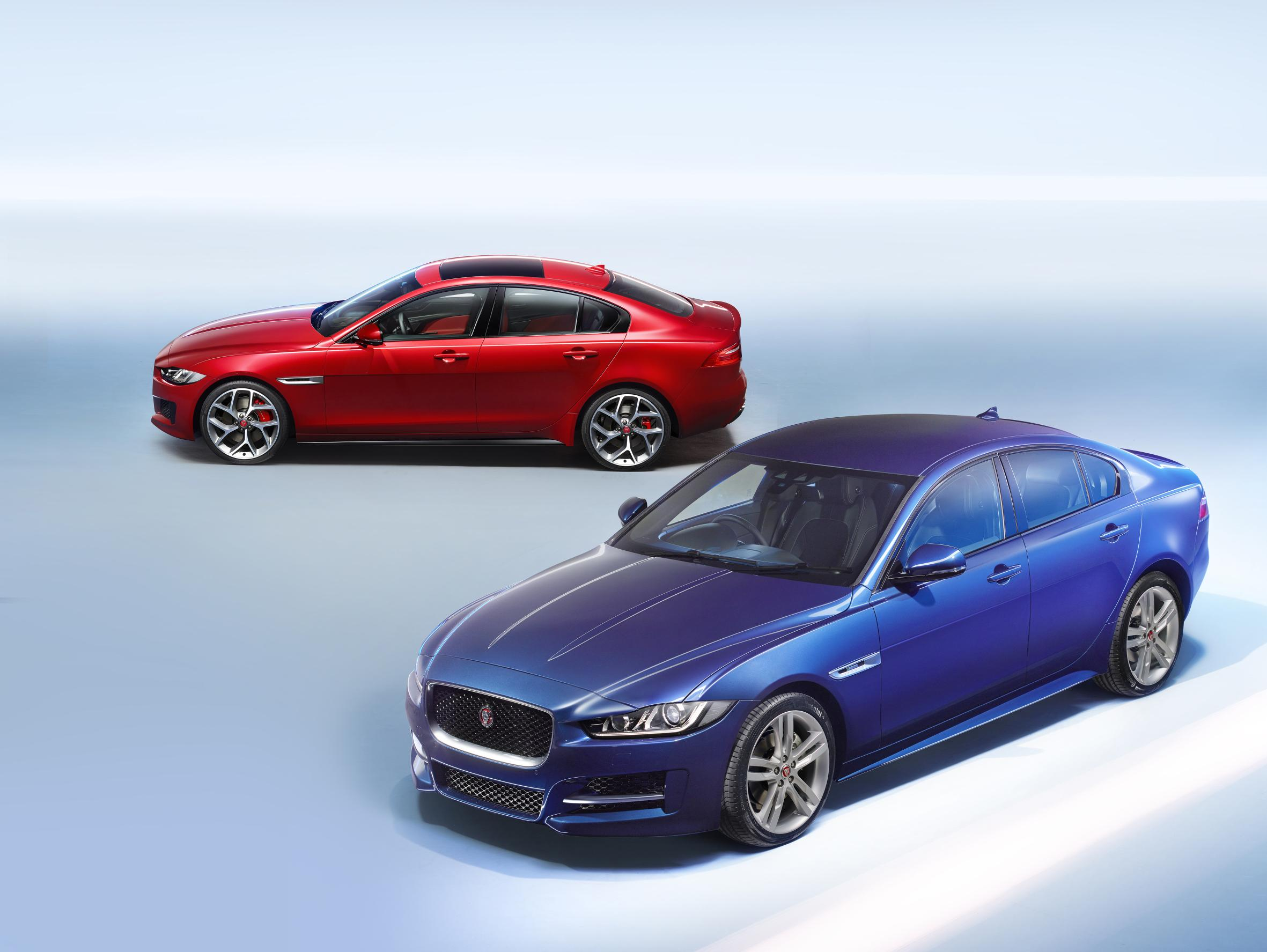 Red and Blue Jaguar XE