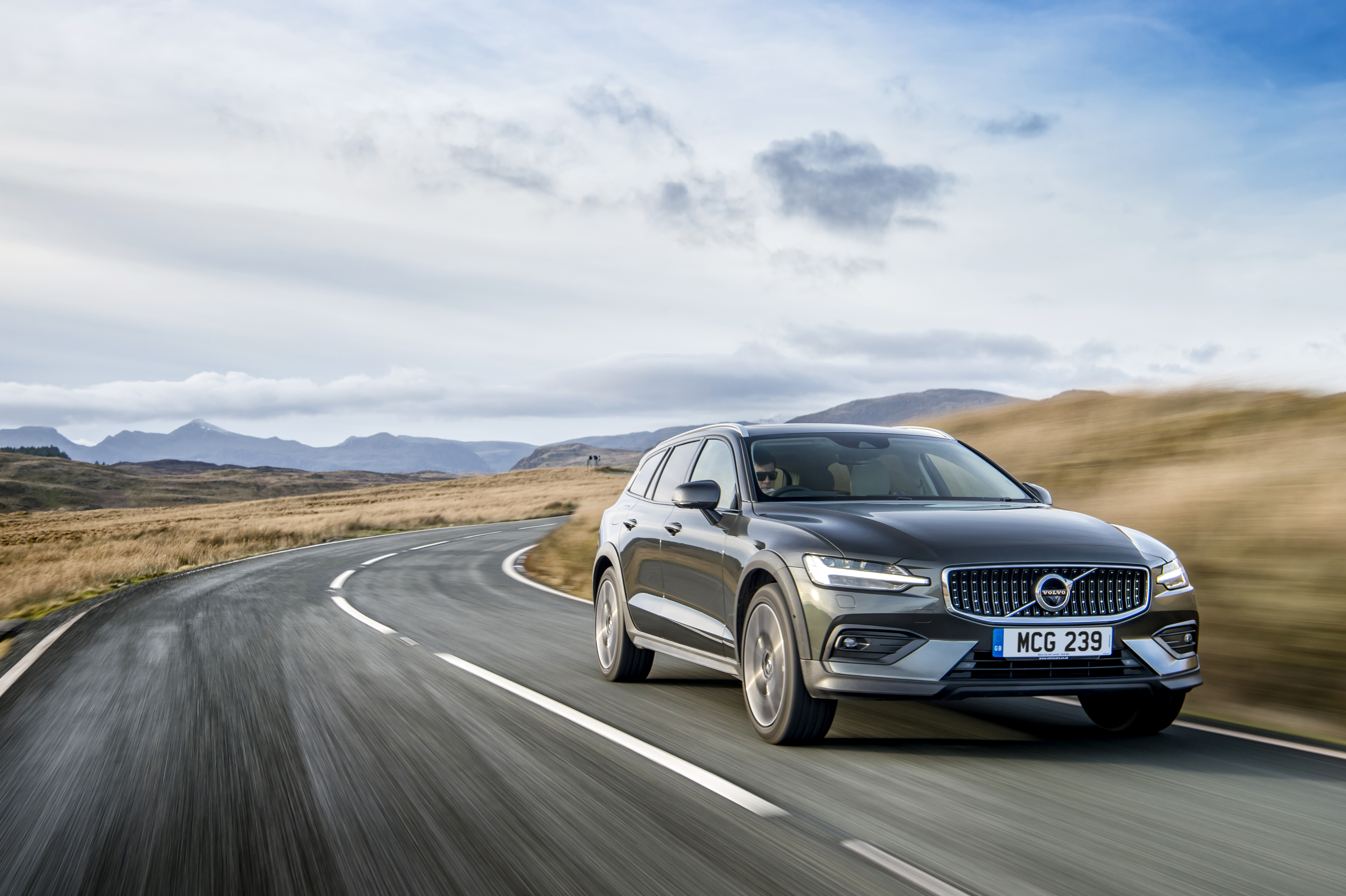 Volvo V60 Driving on a road