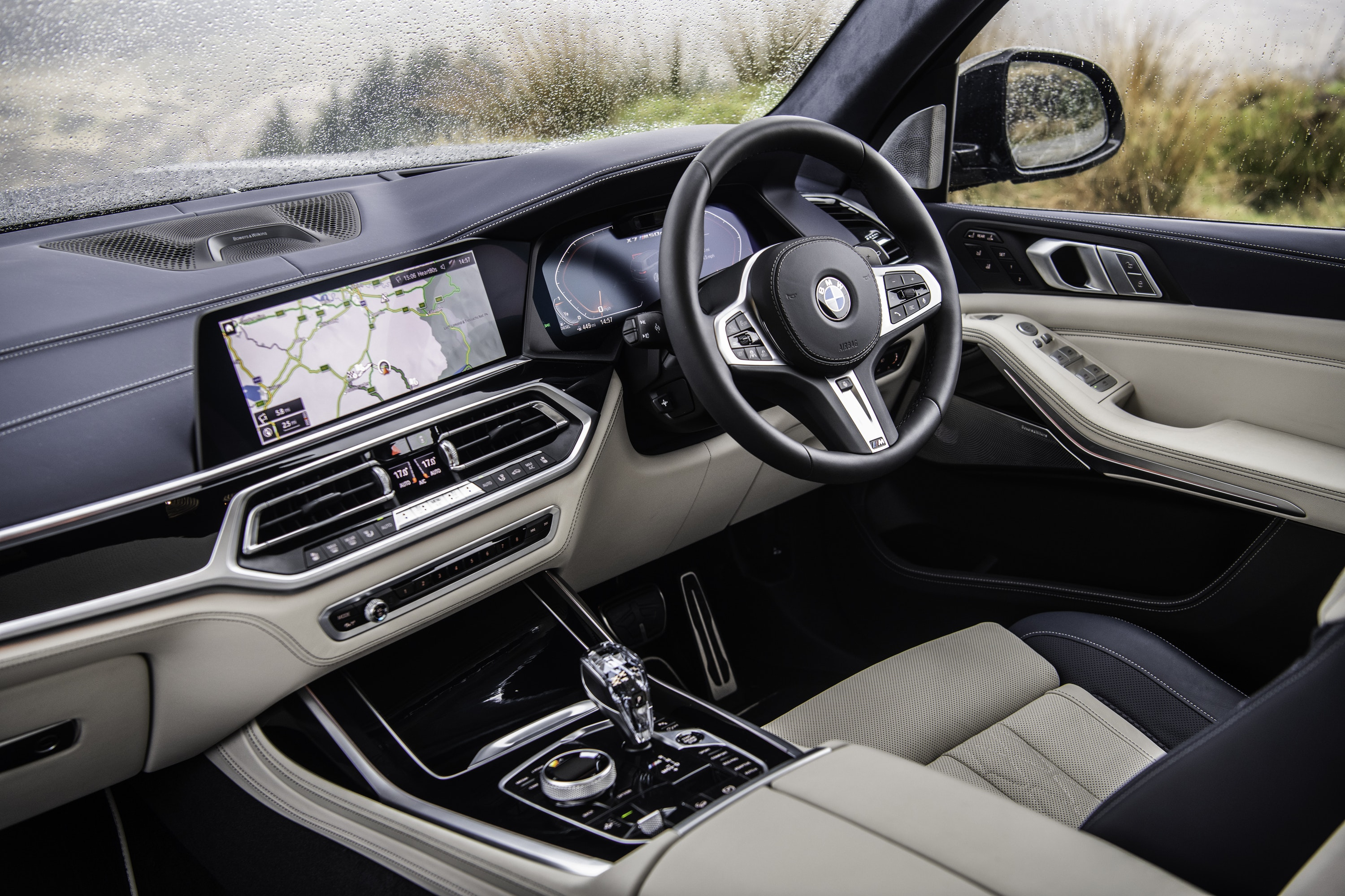 interior of the BMW X7